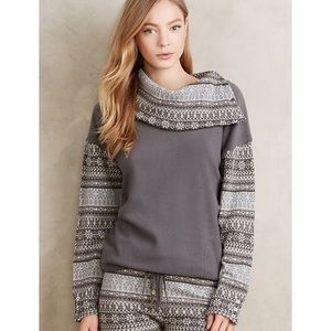 Anthropologie Fairisle Studio Pullover Sweater XS